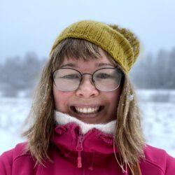 Talvinen kuva Annasta